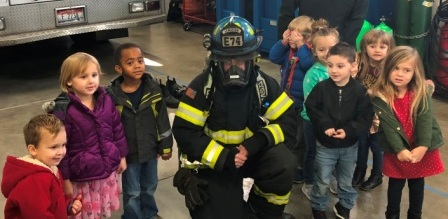 Children with Firefighter